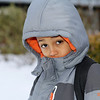 My grandson on his way to school on this Brrrrrrrrisk morning!