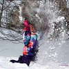 "LET IT ..LET IT SNOW...LET IT SNOW!                       My grand daughter playing in the snow the day after the blizzard ""Hercules"""".."