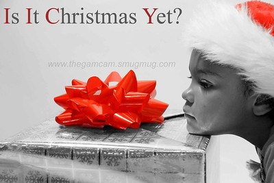 My Grandaughter patiently awaiting Christmas....